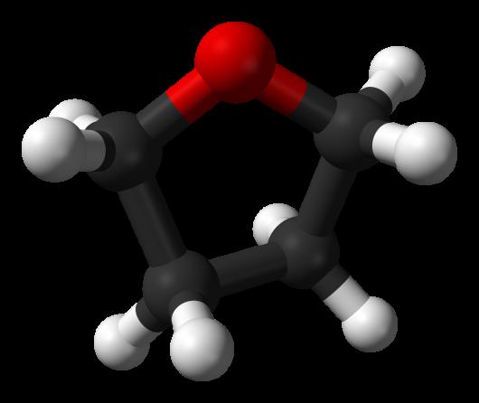 Tetrahydrofuran-3D-balls